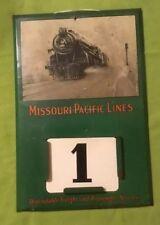 Antique Missouri Pacific Lines ~ Calendar Sign - Vintage Train Railroad ~ Tin ~