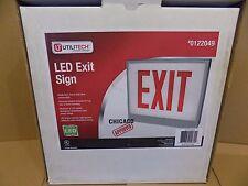 UTILITECH Led Exit Sign,Single Face, H D Steel Construction, Top-Back-Side mount