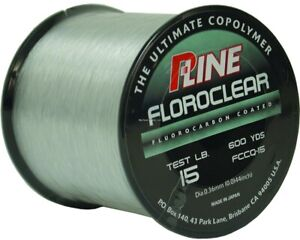 P-Line FCCQ-15 Floroclear Fluorocarbon Coated Mono 15lb 600yd Clear