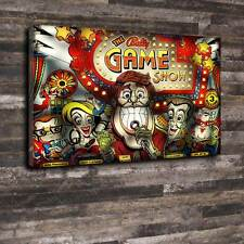 "The Game Show pinball verre Toile imprimée A1.30""x20 ""Deep cadre 30 mm"