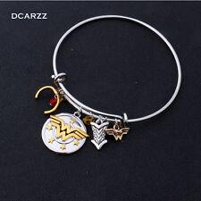 DC Comics WONDER Woman CHARM Bangle Bracelet Wristband SuperHero Women Charms