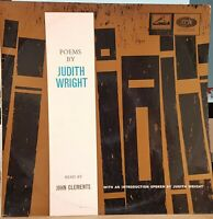John Clements – Poems By Judith Wright - mono LP Record + CD-R backup