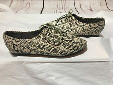 db463e3e58 NWOB DOLLHOUSE-Womens Snake Print Low Ankle Oxford Style Lace Shoes-Size 10
