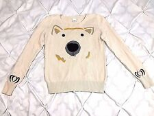 Cooperative Urban Outfitters Women's Polar Bear Sweater Long Sleeve Sz Medium