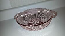"""LOVELY QUEEN MARY DEPRESSION GLASS 8"""" BERRY BOWL w/ TWO OPEN HANDLES! PINK"""