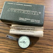 Federal T 2 Test Master 0001 Dial Indicator With Box Glass Is Cracked Working