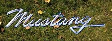 """Ford Mustang Script Heavy Duty Steel Metal Sign - Ford Licensed (48"""" x 13"""")"""