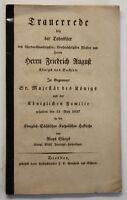 Günzel Trauerrede bey der Todesfeier Friedrich August Königs von Sachsen 1827 sf