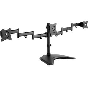 """V7 DS1FST-1N  Triple Swivel Desk Stand Mount - Up to 27"""" Screen Support"""