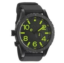 Nixon Uhr 51-30 Tide All Black Matte PU Lum 1A A058 1256 Diplomatic Swiss