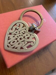 """James Cut Out  BRONZE  Key chain ring """"Very special mom"""" Retired GIFT BOX"""