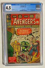 AVENGERS #1 Marvel Comics 1963 CGC 4.5 Origin & 1st Appearance !! HIGH END