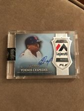2017 TOPPS DYNASTY YOENIS CESPEDES AUTO JUMBO PATCH METS LAUNDRY TAG 1/1