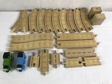 Lot of 23 Thomas & Friends the Train Engine Wooden Railway Tank Tracks Risers