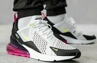Nike Air Max 270 White Volt Black AH8050-109 Running Shoes Men's Multi Sizes NEW