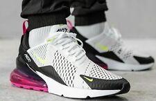 Nike Air Max 270 White Volt Black AH8050-109 Running Shoes Men's Multi Sizes NEW