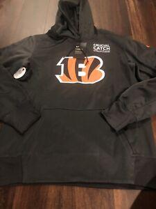 Nike Cincinnati Bengals NFL Football Hooded Sweatshirt Size Medium Crucial Catch