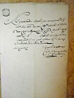 REGNANDO NAPOLEONE BONAPARTE FEDE DI CREDITO O DEBITO ANTICO MANOSCRITTO 1805