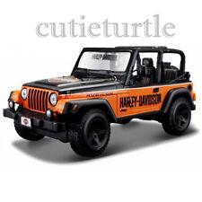 Maisto Harley Davidson Jeep Wrangler 1:27 Diecast Model Car 34190 Orange