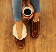 FUR SLIPPERS SHEEP WOOL SHOES WARM SOCK SLIPPER  WOOLEN MOCCASINS WOMEN MEN BOOT