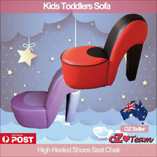 Kids Toddlers Sofa Lounge Couch High Heeled Shoes Seat Chair