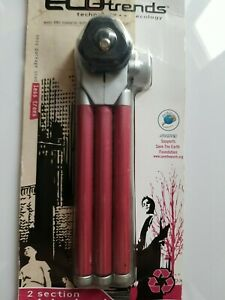 2 Section Mini Tripod By Ecotrends extendable to 9 inches tall. Color Mauve