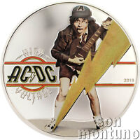 HIGH VOLTAGE - Official AC/DC 1/2 Oz Silver Proof Coin - 2018 Cook Islands $2