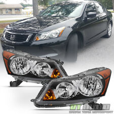 [Factory Style] Headlamps For 2008-2012 Honda Accord Sedan Headlights Left+Right