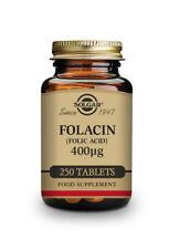Solgar Folacin Vitamin B9 Folic Acid 400 µg Tablet - Pack of 250