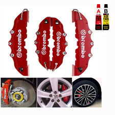 4x 3D Brembo Style Race Brake Caliper Cover Disc Red Car Front & Rear +Free Glue