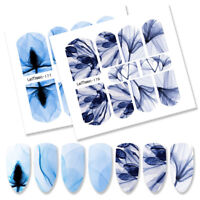 10Pcs LEMOOC Nagel Wasser Sticker Wassertransfer Nail Art Stickers Full Wraps