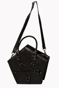 Black Gothic Emo Punk Pentagram Rockabilly Evocation Bag Handbag BANNED Apparel