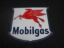 MOBILGAS SHIELD PORCELAIN SIGN
