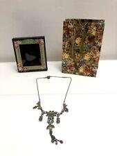 Michal Negrin Necklace Floral Swarovski Crystals Victorian Antique embellished