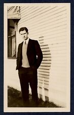 Good Looking Impeccably Dressed Young Man Bliss Haynes Coeur d'Alene 1930s Photo