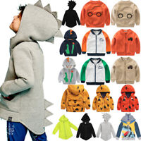 Toddler Boys Sweatshirt Zipper Windbreaker Casual Jacket Coat Outwear Clothes