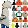 Kids Boys Girls Unisex Sweatshirt Hoodies Zip Jacket Coat Cotton Outwear Casual