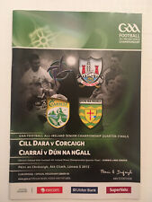 2012 GAA All-Ireland Football Q-Fin KILDARE v CORK & KERRY v DONEGAL Programme.