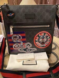 Gucci GG Supreme Night Courier Messenger Crossbody Canvas Bag 474137 Men's/Women