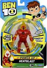 BEN 10 TEN DELUXE Power Up FIGURE w/ lights & sounds - HEATBLAST new for 2017