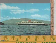 VINTAGE UNUSED FERRY POST CARD BLUENOSE  BAR HARBOR ME TO YARMOUTH, NS side view