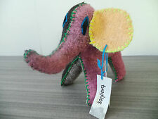 "7"" TALL ELEPHANT TWOOLIES HANDMADE DECORATIVE WOOL ANIMAL MEDIUM MEXICO GIFT NWT"