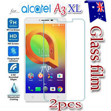 2X Alcatel A3XL A3 XL Tempered Glass Screen Protector Film Guard LCD Protector