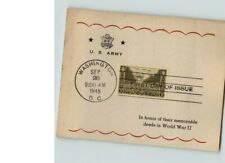 United States ARMY 1945 First Day of Issue on Sanders Card