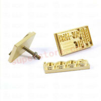 Customized Brass Die Mold Copper Stamp Brand Logo For Hot Foil Stamping Machine