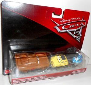Cars 3 - LUIGI + GUIDO with Cloth + McQUEEN AS CHESTER Disney Pixar Mattel Cars
