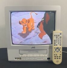 """JVC TV-13142W CRT Retro Gaming 13"""" Television VCR Combo w/ Remote"""