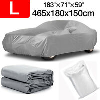 L Full Car Cover Waterproof Anti-UV Snow Dust Indoor Protection For Hatch Sedan