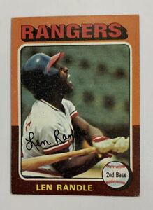 1975 Len Randle # 259 Topps Baseball Card Texas Rangers