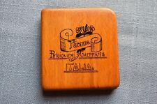 """Wwi Wooden Cigarette Box, """"Ricordo. Prigionieri Di Guerra 1918 Italia."""""""